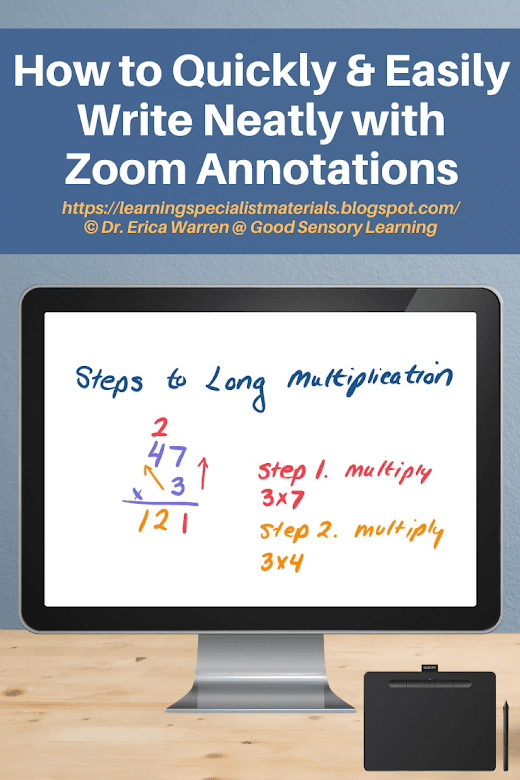 Computer screen that says How to Write Neatly with Zoom Annotations
