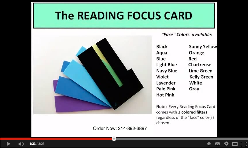 The Reading Focus Card
