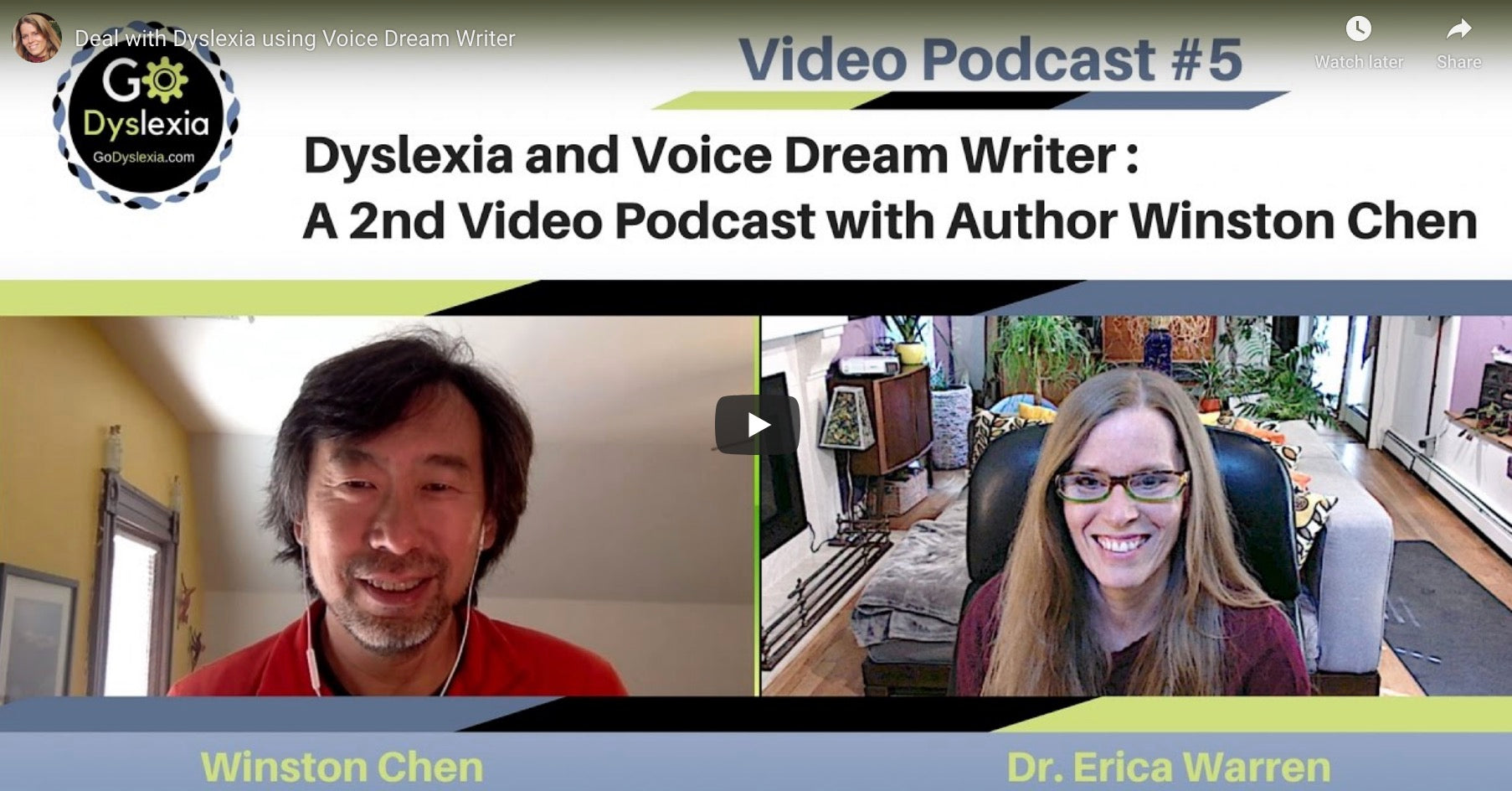 Winston Chen and Erica Warren podcast
