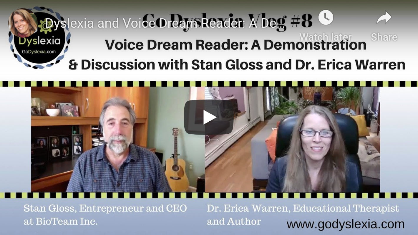 Bookshare podcast with Erica Warren and Stan Gloss