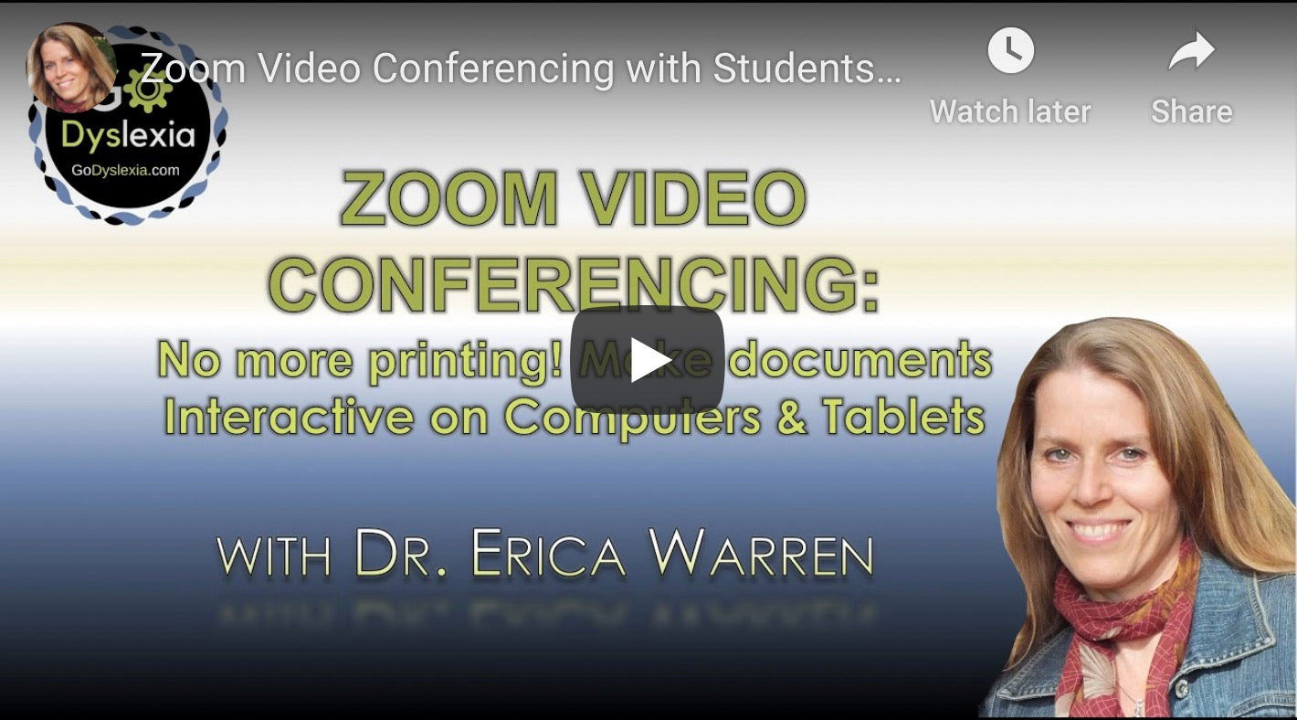 Dr. Warren demonstrates writing on pdfs using Zoom