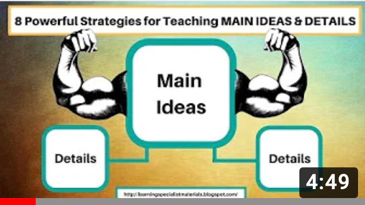 A powerful way to teach main ideas and details