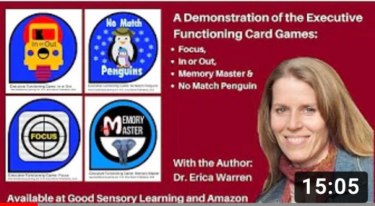 Executive functioning card games