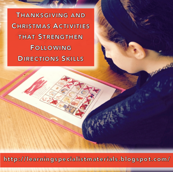 Thanksgiving and Christmas Following Directions Activities