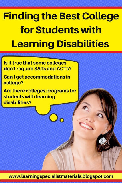 The college search for students with learning disabilities