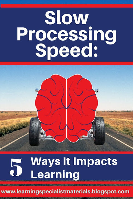 slow processing speed and students