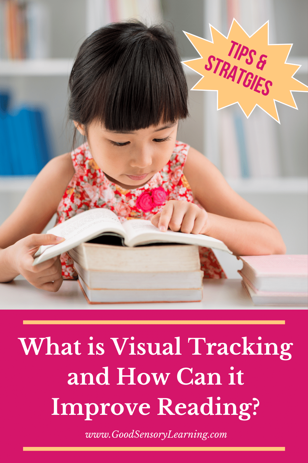 How to improve reading with improved visual tracking