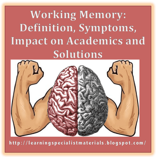 symptoms of working memory problems
