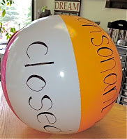 Using beach balls for learning