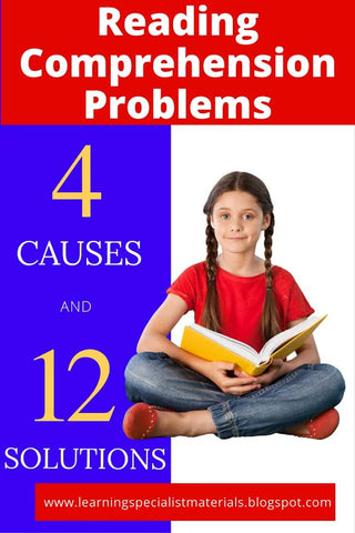causes of reading comprehension problems