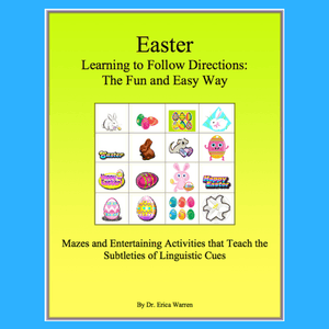 These Easter handouts strengthen student processing of language skills and the ability to follow both written or oral directions.