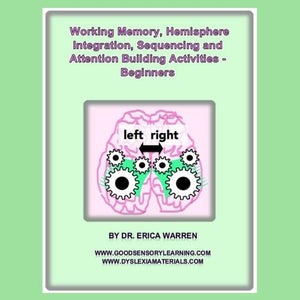 Brain with moving cogs illustrates cover of working memory activities