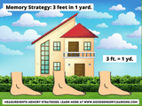 image of three giant feet in a yard