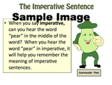 Sample lesson page for imperative sentences