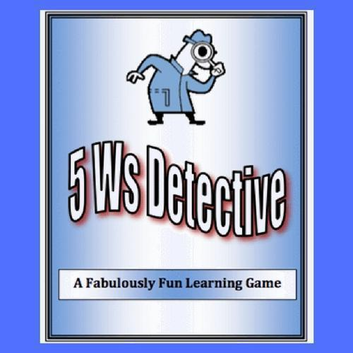 Product Cover of the 5 Ws Detectives Writing Game