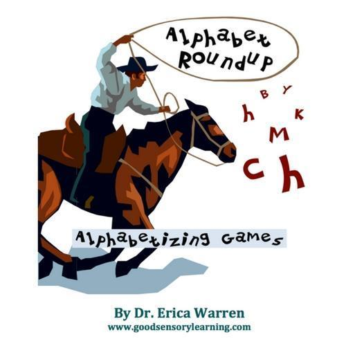 Cover of Book Alphabet Round Up on a Cartoon Horse
