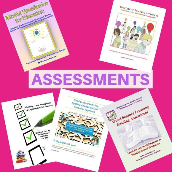 Product Covers of 5 Books Assessment Bundle for Student Success