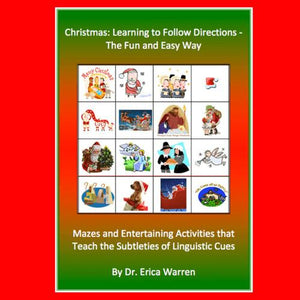 Red and Green Cover of Christmas Following Directions Workbook