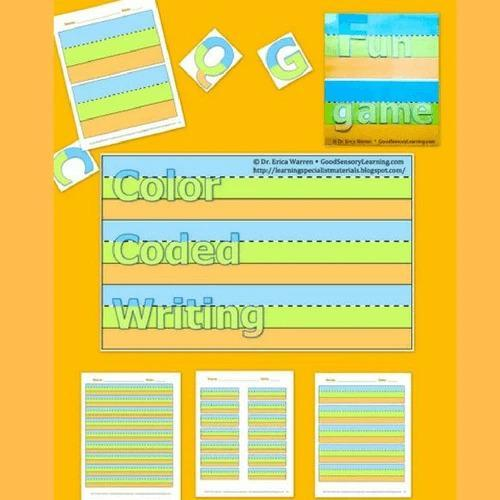 Colorful Cover of Color Coded Handwriting Publication