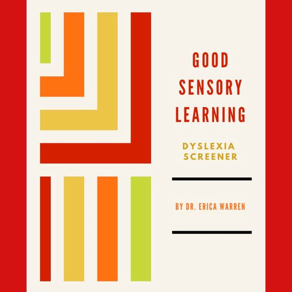 Colorful Cover of Dyslexia Screening Book.