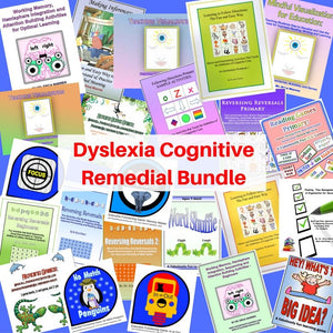 The Dyslexia Remedial Bundle offers a discounted selection of Dr. Warren's digital download publications that can be used to strengthen and remediate the cognitive weaknesses associated with dyslexia.
