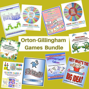 Collage of all products in the Orton Gillingham Games Bundle