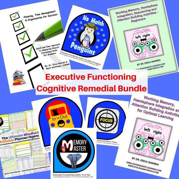 Collage of Dr. Warren's Executive Functioning Publications