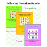 Collage of Three Following Directions Workbooks