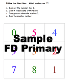 Process of elimination game for elementary following directions publication