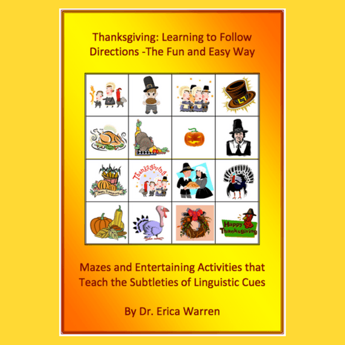 Yellow and orange cover with thanksgiving images