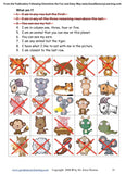Grid of animals for following directions worksheet