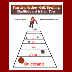 Image of fraction shuffle board game