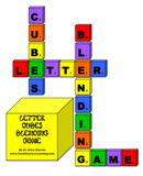 Image of letter cubes spelling words illustrating a blending game