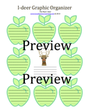 Preview of Main Idea and Detail handout with a deer and apples