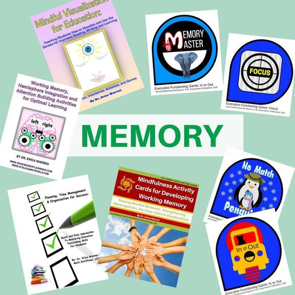 Collage of Dr. Warren's Memory Enhancement Publications