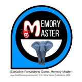 Cover image of the game memory master depicts an elephant in a blue circle