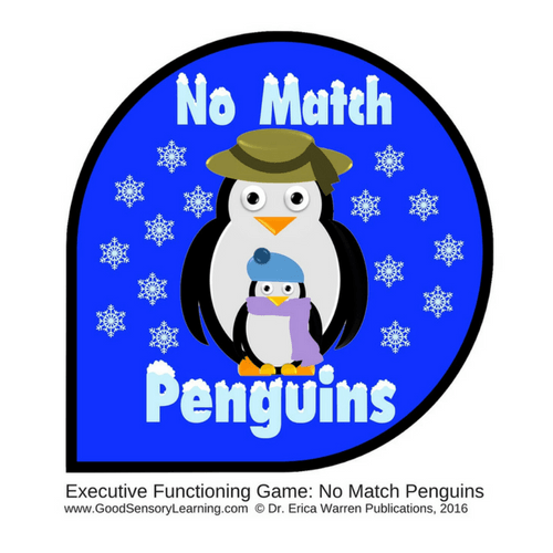 No Match Penguins card front of two penguins