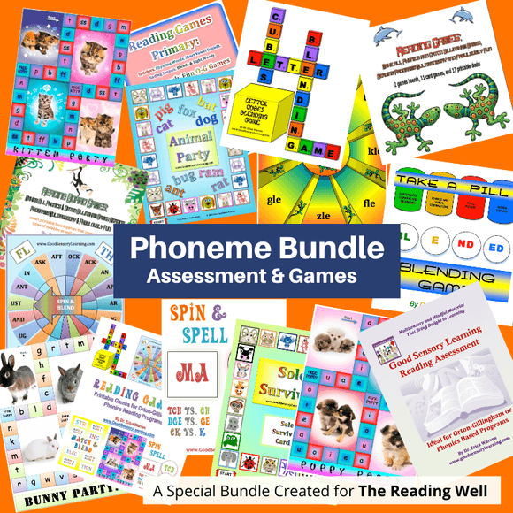 collage of all publication covers in the Phoneme Bundle