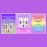 Collage of three publications that help foundational learning for elementary students