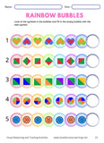 shapes in bubbles for reasoning activity