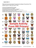 Sample visual tracking page of animals from reversing reversals primary