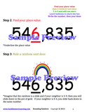 Rounding Rainbow sample preview shows how to round numbers