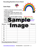 Rounding Rainbow Score sheet for game