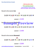 Colorful preview shows how to round numbers