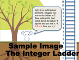 A sample image from the Integer Ladder of a bunny and a ladder