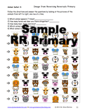 Reversing Reversals Primary Sample page offers rows of animals