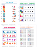 more sample pages from visual spatial and closure activities workbook