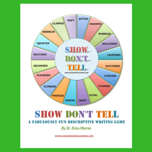 Show Dont Tell Descriptive Writing Game colorful cover