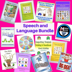Collage of Speech and Language publication