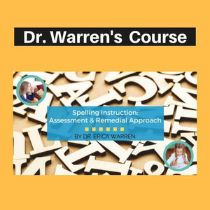 Cover image for Dr. Warren's spelling course